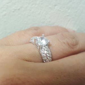 Jewelry - Sterling Silver CZ Wedding Ring